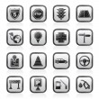 Traffic, road and travel icons - Stock Vector
