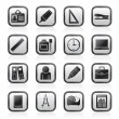 Business and office objects icons - Stock Vector