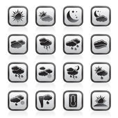 Weather and meteorology icons — Vettoriale Stock