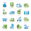 Household Gas Appliances icons — Stock Vector #13423195