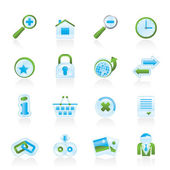 Web Site and Internet icons — Vector de stock