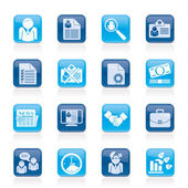 Employment and jobs icons - vector icon set — Stock Vector