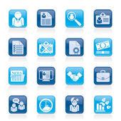 Werkgelegenheid en werkgelegenheid pictogrammen - vector icon set — Stockvector