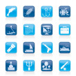 Fishing industry icons - Stock Vector