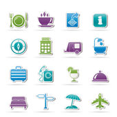 Traveling and vacation icons — Stock Vector