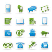Contact and communication icons — Stock Vector