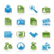 Employment and jobs icons — Stock Vector #14423165
