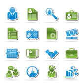 Employment and jobs icons — Stock Vector