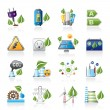 Green energy and environment icons — Stock Vector #16036637