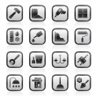 Stock Vector: Construction and building equipment Icons