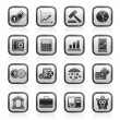 Business and finance icons - Vettoriali Stock