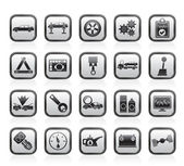 Car services and transportation icons — Stock Vector