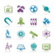 Stock Vector: Science, research and education Icons