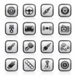 Different kind of car parts icons — 图库矢量图片
