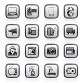 Communication and Technology icons — Stok Vektör