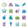 School and education icons — Stock Vector #18411751