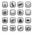 Contact and communication icons — Imagens vectoriais em stock