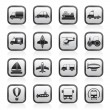 Different kind of transportation icons - Stock Vector