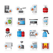 Household Gas Appliances icons — Stock Vector
