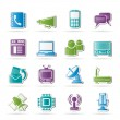 Communication, connection and technology icons — Stock Vector #19944891