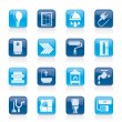 Construction and home renovation icons - 图库矢量图片