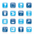 Construction and home renovation icons - Stock vektor