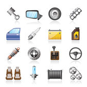 Detailed car parts icons — Stockvektor