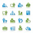 Stock Vector: Business, management and hierarchy icons