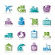 Stock Vector: Cargo, logistic and shipping icons