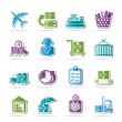 Cargo, logistic and shipping icons — Stock Vector #20322845