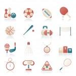 Sport equipment icons — Stock Vector