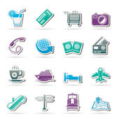 Travel and vacation icons — Stock Vector