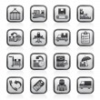Cargo, shipping and delivery icons — Stockvectorbeeld