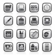 Business and office equipment icons - Stock Vector