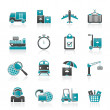 Cargo, shipping and logistic icons — Stock Vector #22504039
