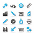 Detailed car parts icons — Stock Vector #22504085