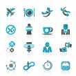 Aircraft,  airport and Plane Icons - Imagen vectorial