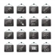 Detailed car parts icons - Stok Vektr