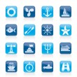 Marine and sea icons — Stock Vector #23121412