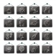 Science, Research and Education Icons - Stock Vector