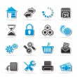 Web Site and Internet icons — Vector de stock #23121426