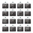 Royalty-Free Stock Vector Image: Photography equipment icons