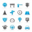 Road and Traffic Icons - Image vectorielle