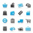 Shopping and retail icons — Stock Vector #23551017