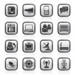 Royalty-Free Stock Vector Image: Communication, connection  and technology icons