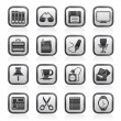 Business and office objects icons — Stock Vector
