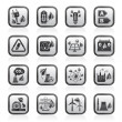 Green energy and environment icons — Imagen vectorial