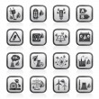 Green energy and environment icons — Stockvectorbeeld