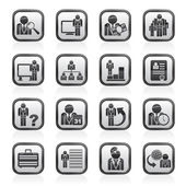 Business, management and hierarchy icons — Stock Vector