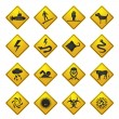 Royalty-Free Stock Vector Image: Warning Signs for dangers in sea, ocean, beach and rivers